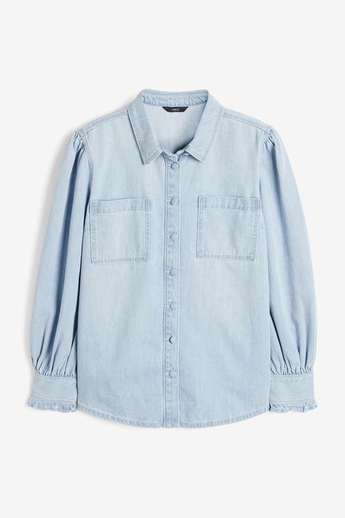 Next Puff Sleeve Denim Shirt
