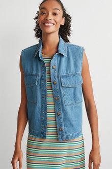 Next Pocket Detail Sleeveless Shirt - 285631