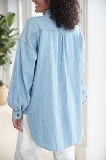 Next Oversized Denim Shirt-Tall - 285636