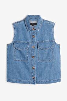 Next Pocket Detail Sleeveless Shirt-Tall - 285638