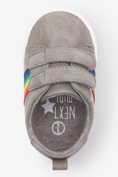 Next Double Strap Tape Pram Shoes (0-24mths)