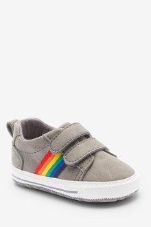 Next Double Strap Tape Pram Shoes (0-24mths) - 285641