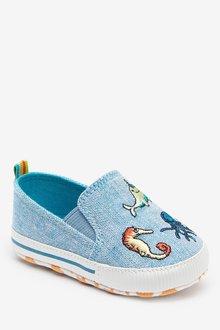 Next Slip-On Pram Shoes (0-24mths) - 285644
