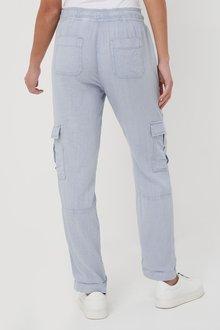 Next Linen Blend Utility Trousers-Regular - 285647