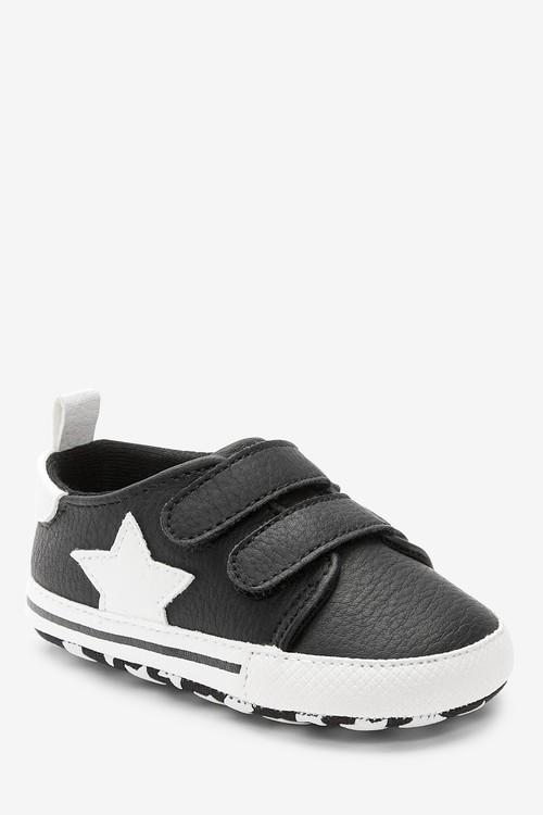 Next Double Strap Star Pram Shoes (0-24mths)