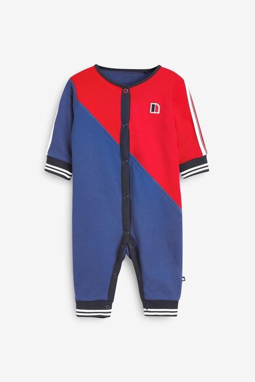 Next 2 Pack Sporty Colourblock Sleepsuits (0mths-2yrs)