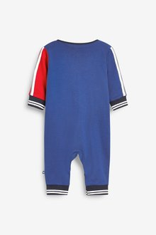 Next 2 Pack Sporty Colourblock Sleepsuits (0mths-2yrs) - 285664