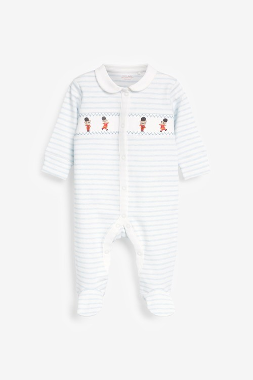 Next 3 Pack Embroidered Sleepsuits (0-2yrs)