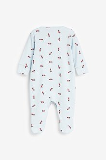 Next 3 Pack Embroidered Sleepsuits (0-2yrs) - 285666