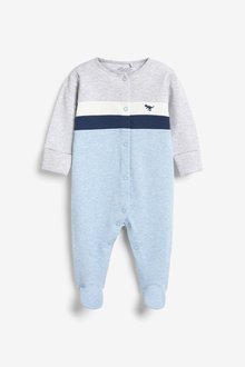 Next Colourblock Smart Sleepsuit (0-2yrs) - 285671