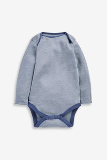 Next 7 Pack Star Stripe Long Sleeve Bodysuits (0mths-3yrs) - 285693