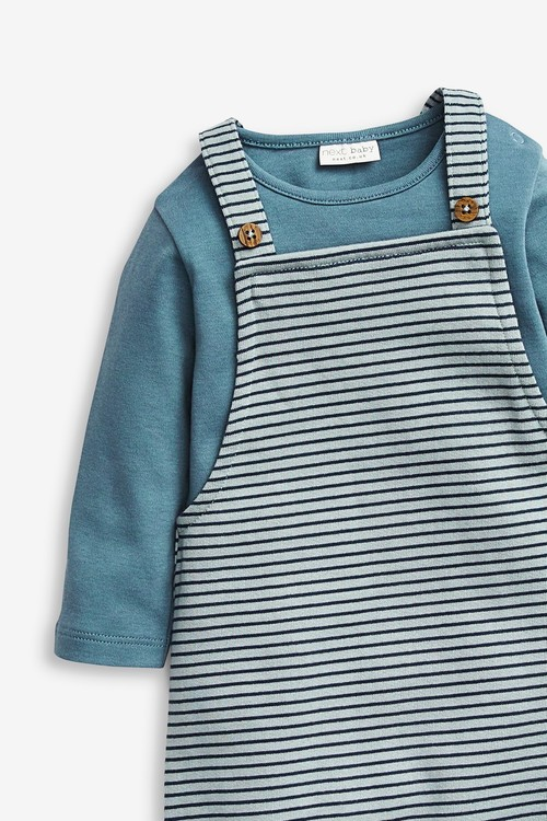 Next Stripe Dungaree and Bodysuit (0mths-3yrs)