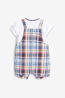Next Check Dungarees And Bodysuit Set (0mths-3yrs) - 285734
