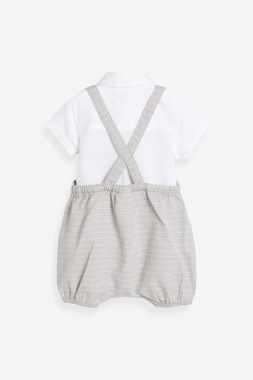 Next Smart Dungarees And Bodysuit Set (0mths-3yrs)