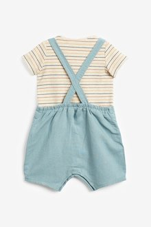 Next Dungaree and Bodysuit Set (0mths-3yrs) - 285740