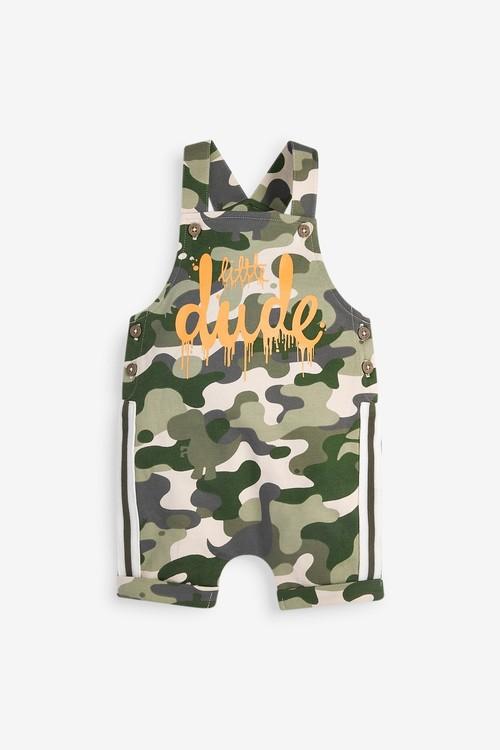 Next GOTS Organic Jersey Dungaree And Bodysuit Set (0mths-3yrs)