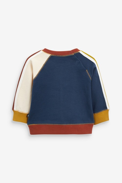 Next Colourblock Sweatshirt And Joggers Set (0mths-2yrs)