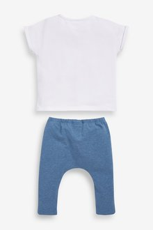 Next GOTS Organic Transport T-Shirt and Legging Set (0mths-2yrs) - 285761