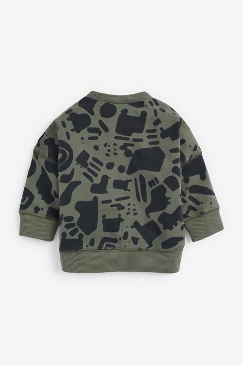 Next 5 Piece GOTS Organic Sweatshirt, T-Shirt And Short Set (0mths-2yrs)