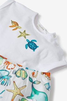 Next GOTS Organic Sea Life T-shirt and Legging Set (0mths-2yrs) - 285772