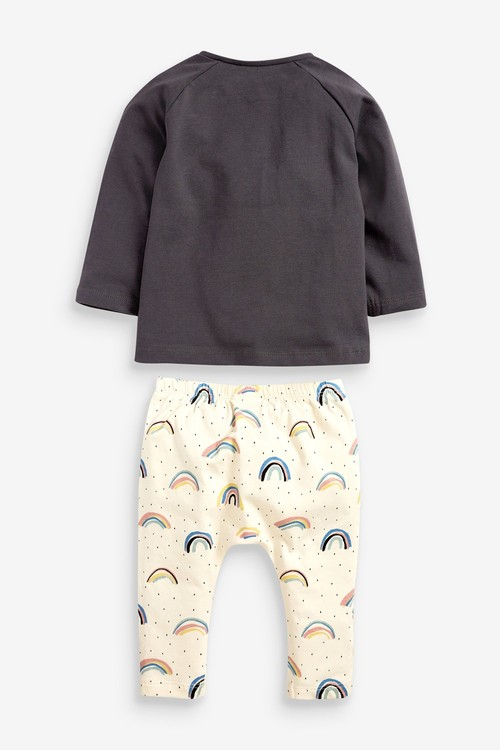 Next GOTS Organic Rainbow T-Shirt And Leggings Set (0mths-2yrs)