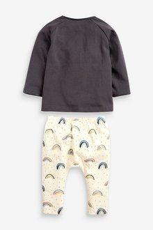 Next GOTS Organic Rainbow T-Shirt And Leggings Set (0mths-2yrs) - 285773