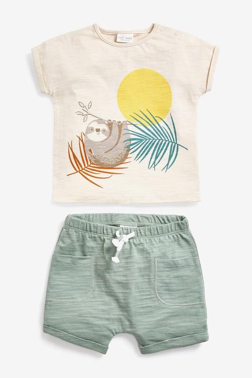 Next GOTS Organic 6 Pack T-Shirts And Shorts Set (0mths-2yrs)