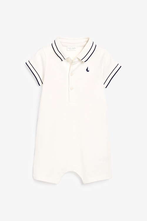 Next 2 Pack Polo Body Rompers (0mths-2yrs)