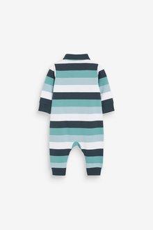 Next Stripe Polo Romper (0mths-3yrs) - 285786