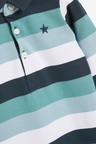 Next Stripe Polo Romper (0mths-3yrs)