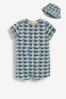 Next Whale Romper and Hat Set (0mths-3yrs) - 285792