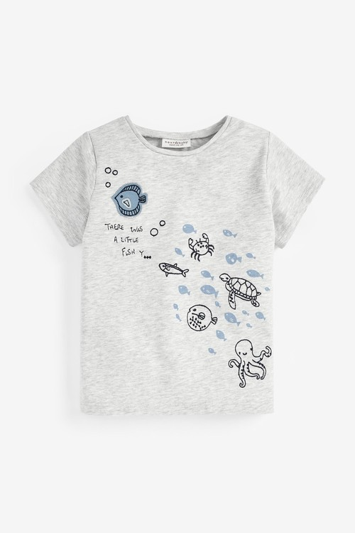 Next 3 Pack Whale T-Shirts With Stretch (0mths-3yrs)