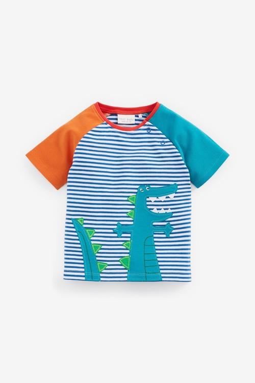 Next 2 Pack GOTS Organic Dinosaur Stretch T-Shirts (0mths-2yrs)