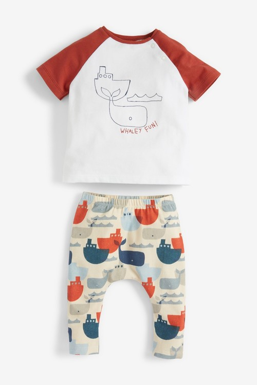 Next 2 Pack GOTS Organic Whale T-Shirts (0mths-3yrs)