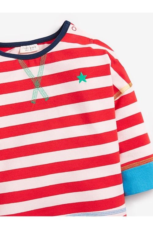 Next 3 Pack GOTS Organic Stripe T-Shirts (0mths-2yrs)
