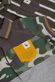 Next 2 Pack GOTS Organic Poloshirt Bodysuits (0mths-3yrs) - 285810