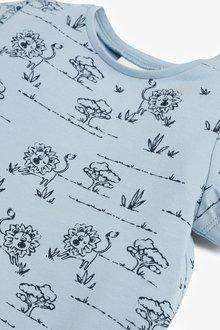 Next 3 Pack GOTS Organic Lion T-Shirts (0mths-3yrs) - 285814