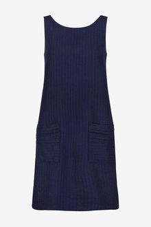Next Linen Blend Shift Dress-Regular - 285834