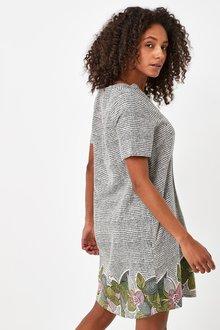 Next Linen Blend Kaftan Dress-Regular - 285849