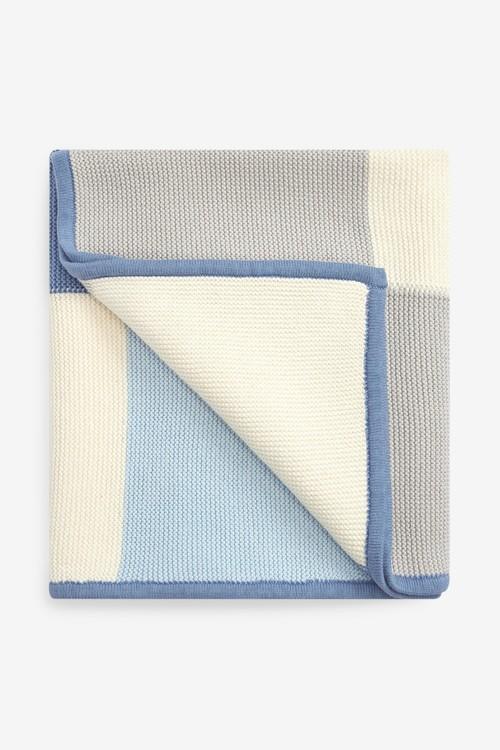 Next Knitted Patch Blanket (Newborn)