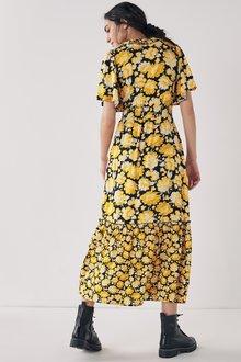 Next Ruffle Wrap Dress-Tall - 285948