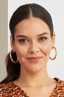 By Fairfax and Roberts Contemporary Large Hoop Earrings - 285951