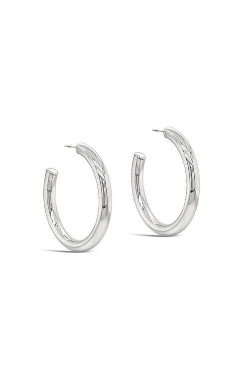 By Fairfax and Roberts Contemporary Large Hoop Earrings
