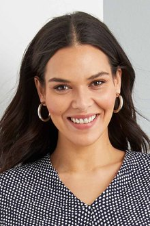 By Fairfax and Roberts Contemporary Medium Hoop Earrings - 285954