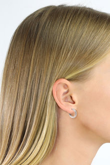 By Fairfax and Roberts Contemporary Small Hoop Earrings - 285957