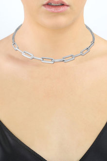 By Fairfax and Roberts Mixed Rectangular Link Chunky Necklace - 285960