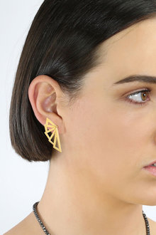 By Fairfax and Roberts Retro Open Winged Earrings - 285964