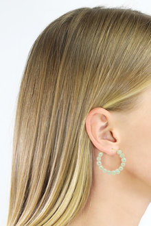 By Fairfax and Roberts Real Freshwater Mini Pearl Bubble Hoop Earrings - 285969