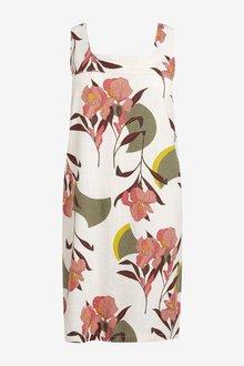 Next Linen Blend Shift Dress-Tall - 285982