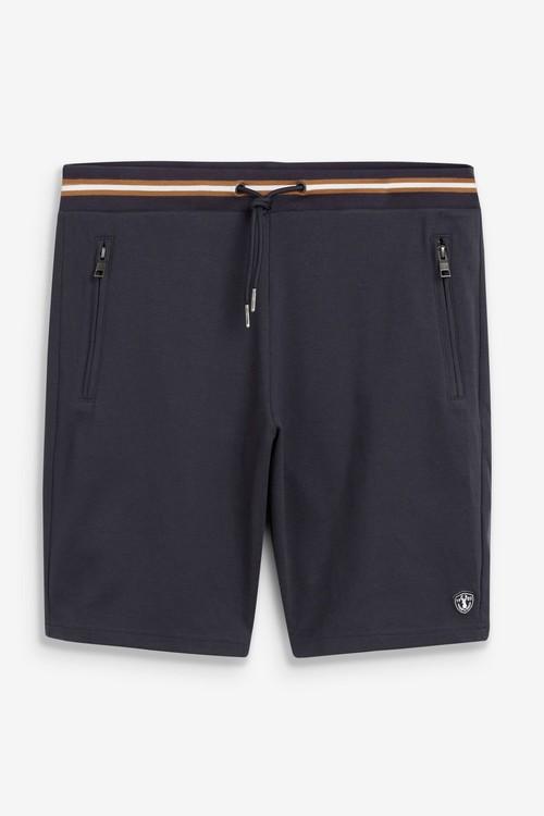 Next Tipped Waistband Cotton Jersey Shorts